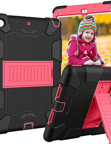 Capinha Para Apple iPad Mini 5 / iPad Mini 4 Com Suporte / Caso seguro para as crianças Capa traseira Armadura silica Gel