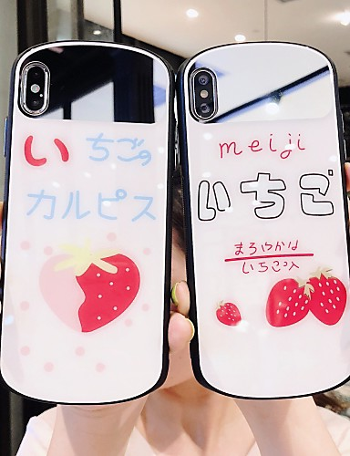 Capinha Para Apple iPhone XS / iPhone XR / iPhone XS Max Espelho / Ultra-Fina Capa traseira Desenho Animado PC