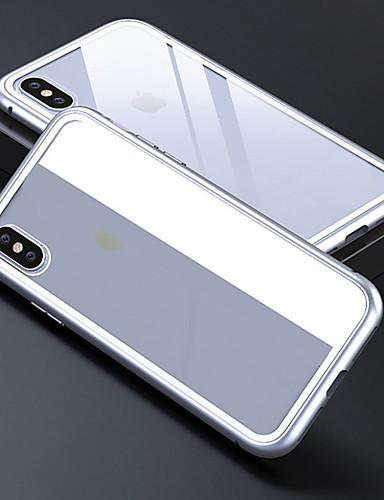 Etui til Apple iPhone 6 / iPhone xs maks gjennomsiktig bakdeksel solid farget hardt temperert glass for iphone 6 / iphone 6s / iphone 6s pluss