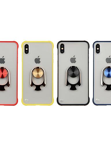 θήκη για Apple iphone 8 / iphone x διαφανή / δαχτυλίδι πίσω κάλυμμα στερεά χρώματος σκληρό tpuc για iphone 6 / iphone 6 plus / iphone 6s 7 8plus xs xr xsmax