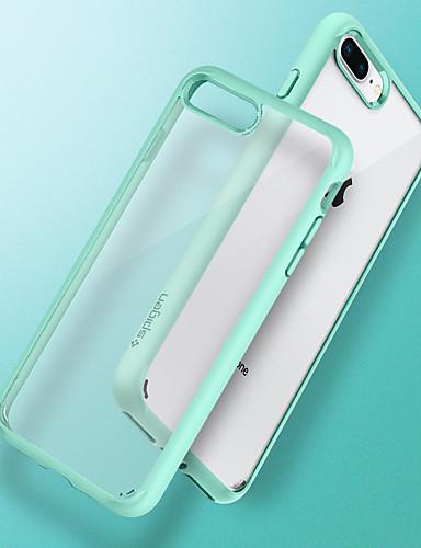 Etui Til Apple iPhone 8 Plus / iPhone 7 Plus Støtsikker / Støvtett / Ultratynn Bakdeksel Gjennomsiktig Hard TPU / PC