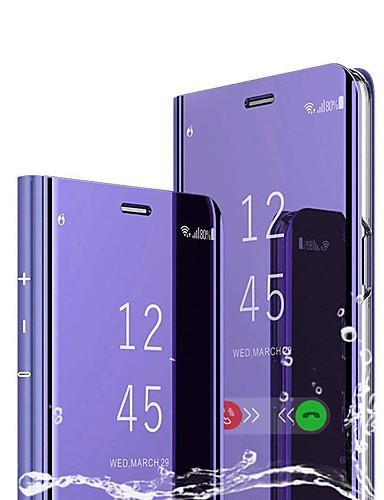 tok Για Huawei Huawei P Smart 2019 με βάση στήριξης / Επιμεταλλωμένη / Καθρέφτης Πλήρης Θήκη Μονόχρωμο Σκληρή PU δέρμα / PC
