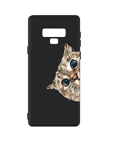 Estojo Para Samsung Galaxy Note 9 À Prova De Choque / Fosco / Padrão Tampa Traseira Gato Tpu Macio