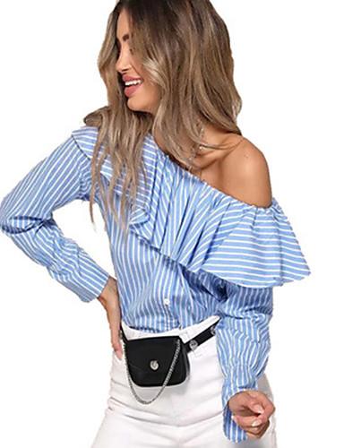 billige Dametopper-T-skjorte Dame - Ensfarget, Lapper Grunnleggende Hvit