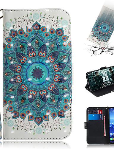 Capinha Para Huawei Huawei Nova 3i / Huawei Nova 4 / Huawei nova 4e Carteira / Porta-Cartão / Com Suporte Capa Proteção Completa Flor PU Leather