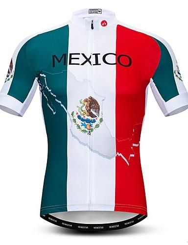 povoljno Odjeća za vožnju biciklom-WEIMOSTAR Muškarci Kratkih rukava Biciklistička majica Obala Meksiko Državne zastave Bicikl Biciklistička majica Majice Brdski biciklizam biciklom na cesti Prozračnost Ovlaživanje Quick dry Sportski
