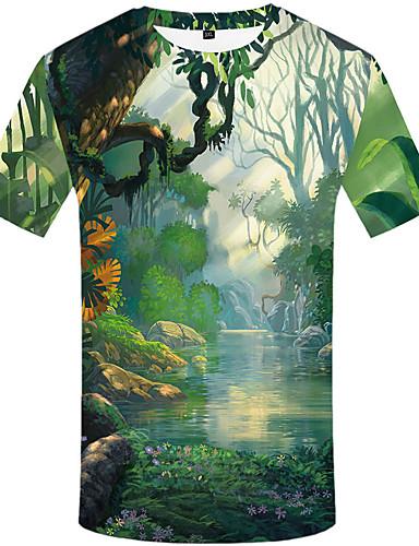 Homens Camiseta 3D Verde