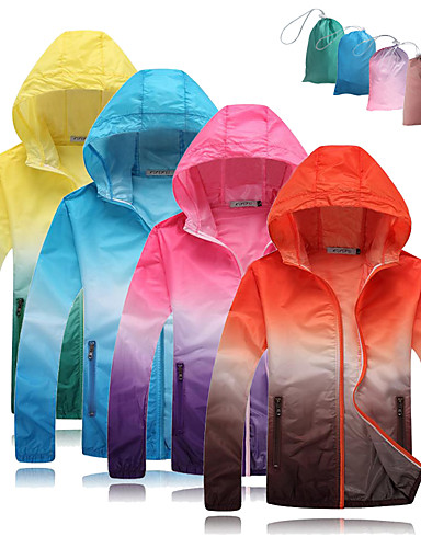 cheap 8~11-Cycling Related - Excellent Value For Money-Men's Women's Cycling Jacket Softshell Jacket Bike Windbreaker Top Windproof UV Resistant Breathable Sports Gradient Polyester Red / White / Red+Brown / Green / Yellow Mountain Bike MTB Road Bike