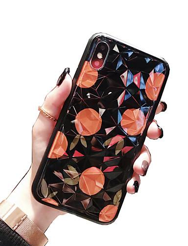etui for iPhone 3GS / iPhone / iPhone 8 / iPhone 7 Plus / iPhone 6s / 6 mønster støtdempende bakdeksel Silikon