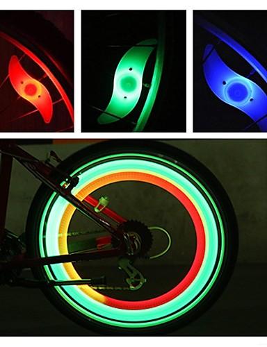 billige Sykkellys og reflekser-LED Sykkellykter sikkerhet lys hjul lys Sykkellyktene Fjellsykling Sykkel Sykling Vanntett Flere moduser Alarm bakgrunnsbelysning CR2032 batteri Sykling Motorsykkel / IPX-4