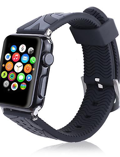 Pulseiras de Relógio para Apple Watch Series 5/4/3/2/1 Apple Pulseira Esportiva / Fecho Clássico Silicone Tira de Pulso