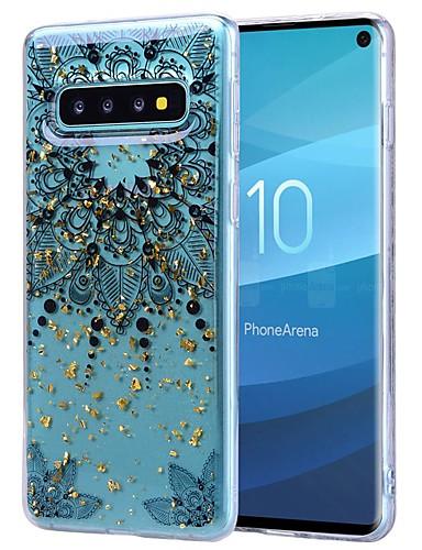 tok Για Samsung Galaxy S9 / S9 Plus / Galaxy S10 Ανθεκτική σε πτώσεις / Διαφανής / Με σχέδια Πίσω Κάλυμμα Λουλούδι Μαλακή TPU