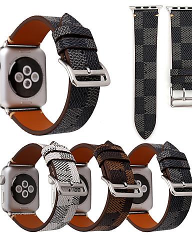 Pulseiras de Relógio para Apple Watch Series 5/4/3/2/1 Apple Fecho Clássico Náilon / Couro Legitimo Tira de Pulso