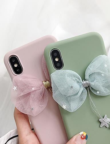Capinha Para Apple iPhone XS / iPhone XR / iPhone XS Max Anti-poeira / Glitter Brilhante Capa traseira Sólido / Desenho Animado / Glitter Brilhante TPU