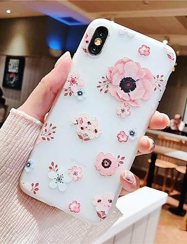 Capinha Para Apple iPhone XS / iPhone XR / iPhone XS Max Com Relevo / Estampada Capa traseira Flor TPU