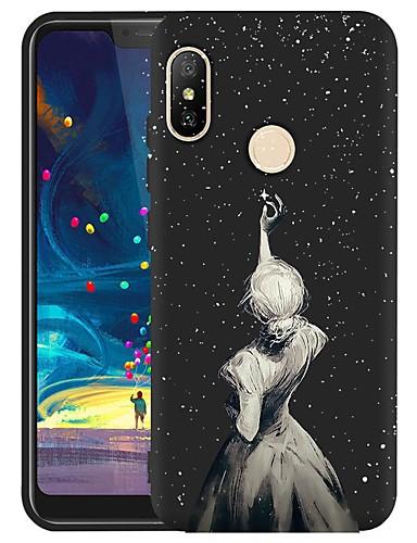 Capinha Para Xiaomi Xiaomi Redmi Note 5 Pro / Xiaomi Redmi 6 Pro / Xiaomi Redmi Note 4X Antichoque / Áspero / Estampada Capa traseira Mulher Sensual TPU