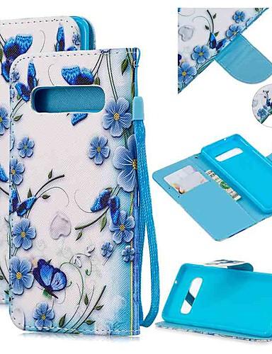 Capinha Para Samsung Galaxy S9 / S9 Plus / S8 Plus Carteira / Porta-Cartão / Antichoque Capa Proteção Completa Borboleta PU Leather