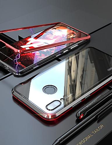 Magneto magnetisk adsorpsjon metall glass tilfelle for xiaomi redmi note 7 tilbake tilfeller dekke for xiaomi redmi note 7 pro