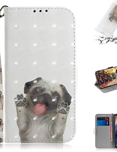 Capinha Para Nokia Nokia 9 PureView Carteira / Porta-Cartão / Antichoque Capa Proteção Completa Cachorro PU Leather