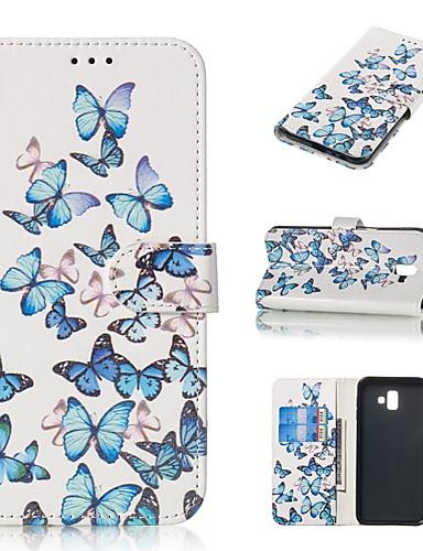 tok Για Samsung Galaxy J7 (2016) / J7 / J5 (2017) Πορτοφόλι / Θήκη καρτών / με βάση στήριξης Πλήρης Θήκη Πεταλούδα Σκληρή PU δέρμα