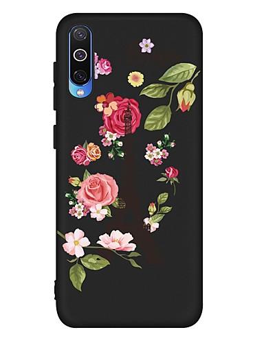 Capinha Para Samsung Galaxy A6 (2018) / A6+ (2018) / Galaxy A7(2018) Antichoque / Áspero / Estampada Capa traseira Flor TPU