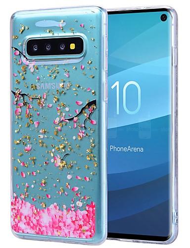 Etui Til Samsung Galaxy S9 / S9 Plus / Galaxy S10 Støtsikker / Gjennomsiktig / Mønster Bakdeksel Blomsternål i krystall Myk TPU