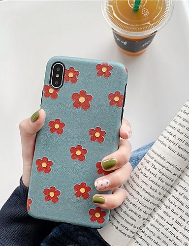 Capinha Para Apple iPhone XS / iPhone XR / iPhone XS Max Impermeável / Antichoque / Anti-poeira Capa traseira Desenho Animado / Flor TPU