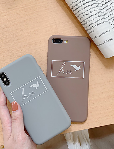 Capinha Para Apple iPhone XS / iPhone XR / iPhone XS Max Ultra-Fina / Estampada Capa traseira Desenho Animado TPU
