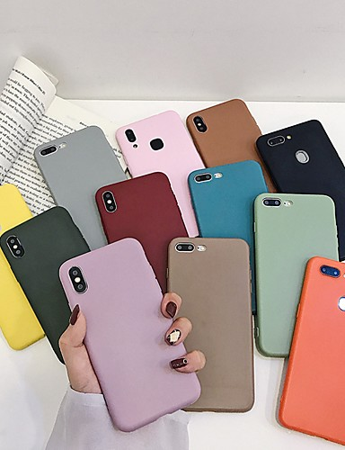 Etui Til Apple iPhone XS / iPhone XR / iPhone XS Max Støtsikker Bakdeksel Ensfarget Myk silica Gel