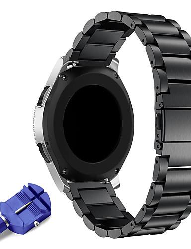 22mm rustfritt stål watch band erstatning metallbånd for utstyr s3 classic / frontier smart / samsung galaxy ur 46mm / ticwatch pro / ticwatch s2 e2