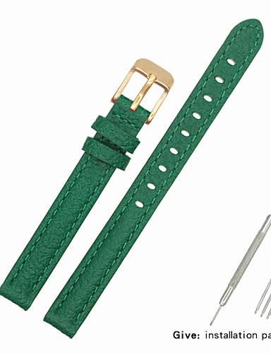 couro legítimo / Pele / Pêlo de Bezerro Pulseiras de Relógio Alça para Verde Outra / 17cm / 6,69 polegadas / 19cm / 7.48 Polegadas 1cm / 0.39 Polegadas