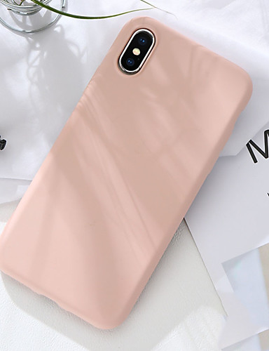 Etui Til Apple iPhone XS / iPhone XR / iPhone XS Max Støtsikker Bakdeksel Ensfarget Myk silica Gel