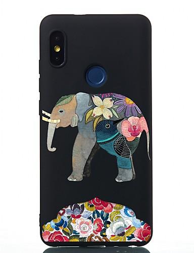 Capinha Para Xiaomi Xiaomi Redmi Note 4X / Redmi 6 / Redmi 5A Antichoque / Áspero / Estampada Capa traseira Animal TPU