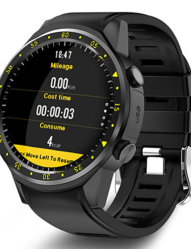 cheap Digital Watches-Men's Smartwatch Digital Modern Style Sporty Silicone 30 m Water Resistant / Waterproof GPS Heart Rate Monitor Digital Casual Outdoor - Black Red Blue