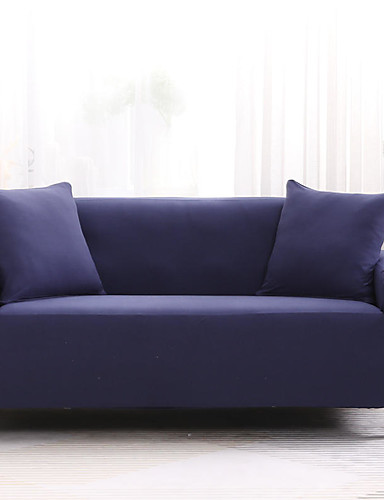 cheap 11.11 - Home Textiles Best Sale-2019 New Stylish Solid Color High Quality Sofa Cover Stretch Couch Slipcover Super Soft Fabric Retro Hot Sale Couch Cover