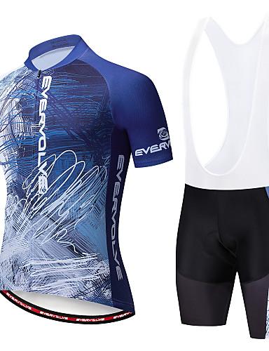 White Summer Cycling Jersey Breathable Sports Geometric Clothing Bib Shorts