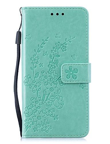 Capinha Para Huawei Huawei Nova 3i / Huawei P20 / Huawei P20 lite Carteira / Porta-Cartão / Antichoque Capa Proteção Completa Sólido / Flor PU Leather / P10 Lite