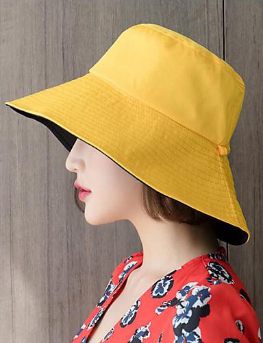 Yiwu pby_0afd enkel vill dobbeltsidig fiskerhatt solskjerm svart-gul