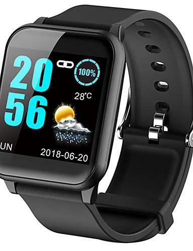 رخيصةأون ساعات موضة-نسائي ساعة رقمية كاجوال موضة أسود أزرق أحمر سيليكون رقمي أسود أزرق أرجواني مقاوم للماء بلوتوث Smart 1SET رقمي