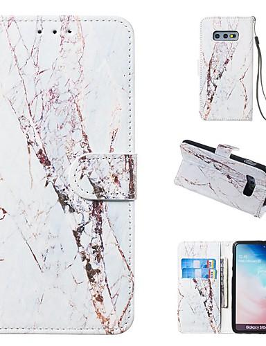 Etui Til Samsung Galaxy S9 / S9 Plus / S8 Plus Lommebok / Kortholder / med stativ Heldekkende etui Marmor Hard PU Leather