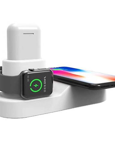 Trådløs Lader USB-lader Us Plugg / Eu Plugg med kabel / Flere utganger / Trådløs Lader 3 USB-porter 3 A / 1.2 A / 1.67 A DC 12 V / DC 9V / DC 5V til Apple Watch Series 4/3/2/1 iPhone X / iPhone 8