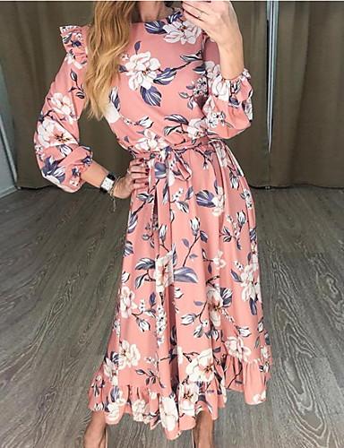 voordelige Maxi-jurken-Dames Standaard Tuniek Jurk Maxi