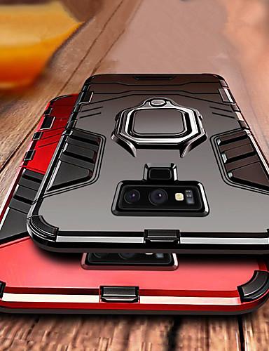 luksus armour ring stativveske til Samsung Galaxy Note 9 støtbeskyttet deksel notat 9 mykt silikon TPU bilholder tilfelle