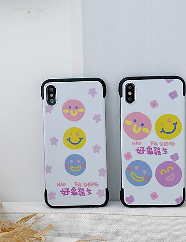 Capinha Para Apple iPhone XS / iPhone XR / iPhone XS Max Anti-poeira / IMD / Backup Capa traseira Palavra / Frase / Desenho Animado silica Gel