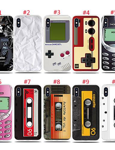 Etui Til Apple iPhone XS / iPhone XR / iPhone XS Max Støtsikker / Mønster Bakdeksel Flise Myk TPU