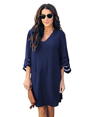 женская футболка выше колена платье v шея вино черный синий s m l xl