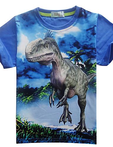 Dongguan pby_06eg gutt sommer kort ermet dinosaur t-skjorte rød_110cm