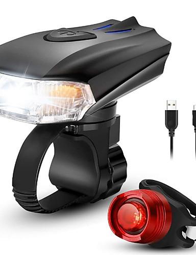 povoljno Biciklizam-LED Svjetla za bicikle Set svjetala za bicikl s mogućnošću punjenja Stražnje svjetlo za bicikl sigurnosna svjetla Brdski biciklizam Bicikl Biciklizam Vodootporno Višestruka načina Pametna indukcija