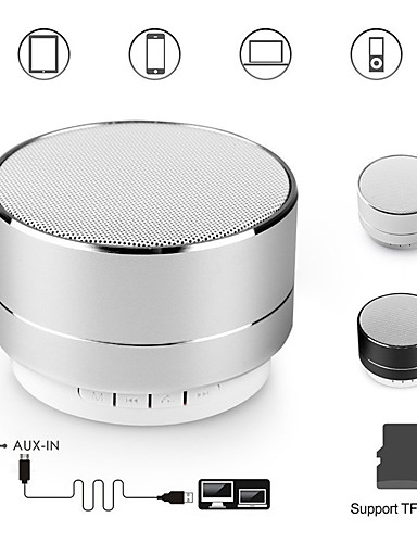 cheap Portable Speakers-A10 bluetooth speaker metal mini portable speakers subwoof sound with microphone handsfree support TF card FM radio AUX