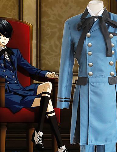 preiswerte Anime - Cosplay-Inspiriert von Black Butler Ciel Phantomhive Anime Cosplay Kostüme Japanisch Cosplay Kostüme Solide Langarm Krawatte / Hemd / Top Für Herrn